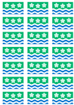Cumberland Flag Stickers - 21 per sheet
